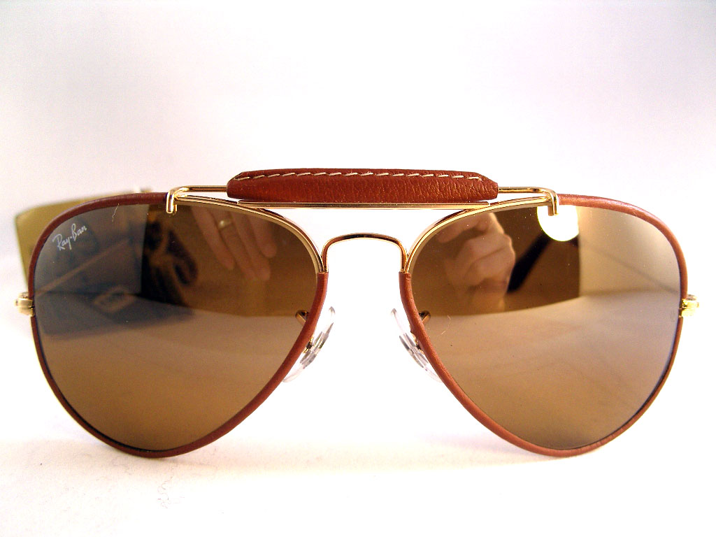 ray ban aviator vintage leather