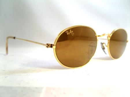 beeb155fb8e Ray Ban W1009. Gold metal frame. Gold mirrored Diamond Hard lenses
